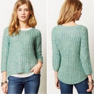 Anthro Knitted & Knotted Sunstitch Sequin Sweater